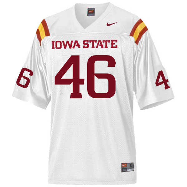 Men #46 Answer Gaye Iowa State Cyclones College Football Jerseys Sale-White
