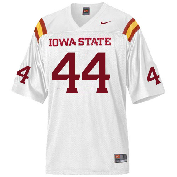 Men #44 Bobby McMillen III Iowa State Cyclones College Football Jerseys Sale-White