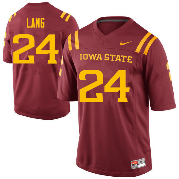 Men #24 Johnnie Lang Iowa State Cyclones College Football Jerseys Sale-Cardinal
