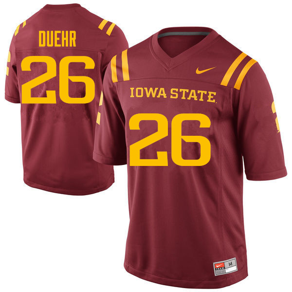 Men #26 Nick Duehr Iowa State Cyclones College Football Jerseys Sale-Cardinal