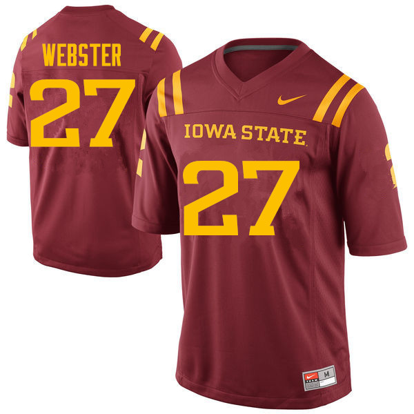 Men #27 Romelo Webster Iowa State Cyclones College Football Jerseys Sale-Cardinal