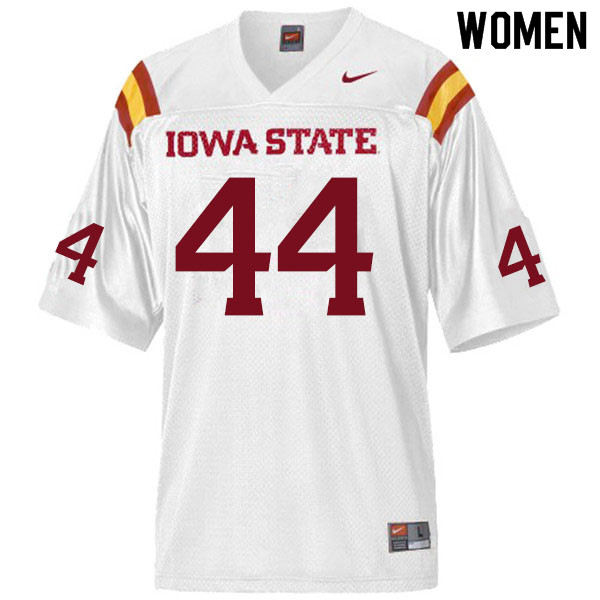 Women #44 Bobby McMillen III Iowa State Cyclones College Football Jerseys Sale-White