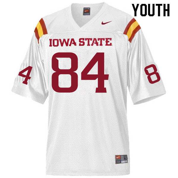 Youth #84 Ezeriah Anderson Iowa State Cyclones College Football Jerseys Sale-White