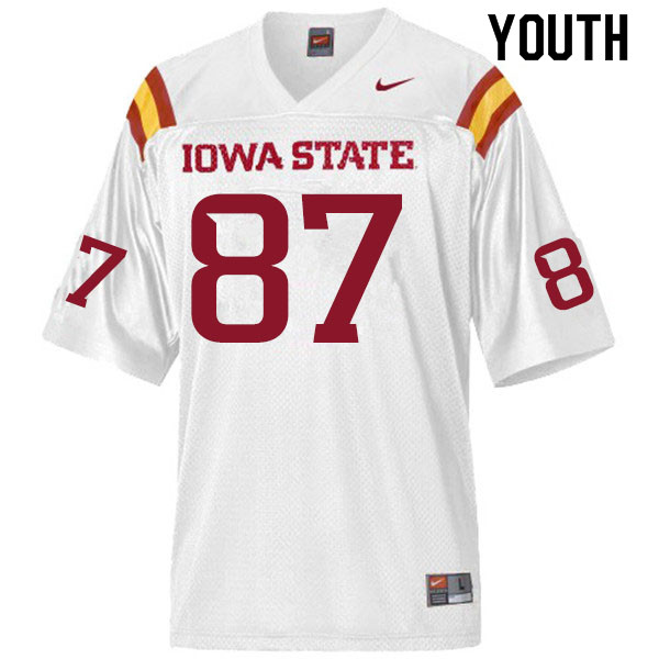 Youth #87 Ryan Pritchard Iowa State Cyclones College Football Jerseys Sale-White