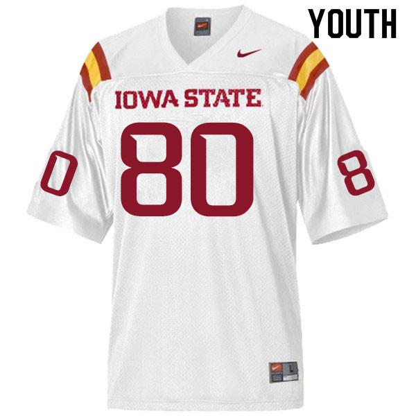 Youth #80 Skylar Loving-Black Iowa State Cyclones College Football Jerseys Sale-White